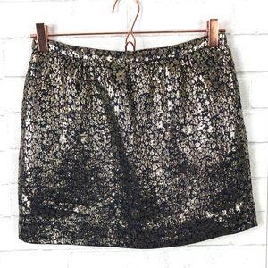 J. Crew Collection Metallic Jacquard Silk Skirt